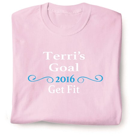 """Personalized """"Your Name""""  Goal Shirt - Ornate Swirl Personal Goal"""