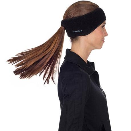 Fleece Ponytail Headbands- Black
