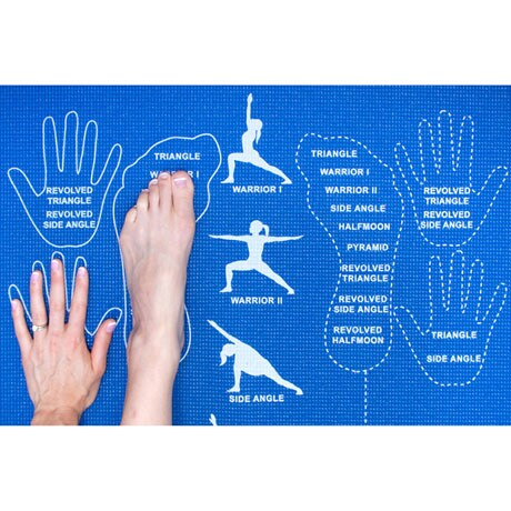 Instructional Yoga Mat