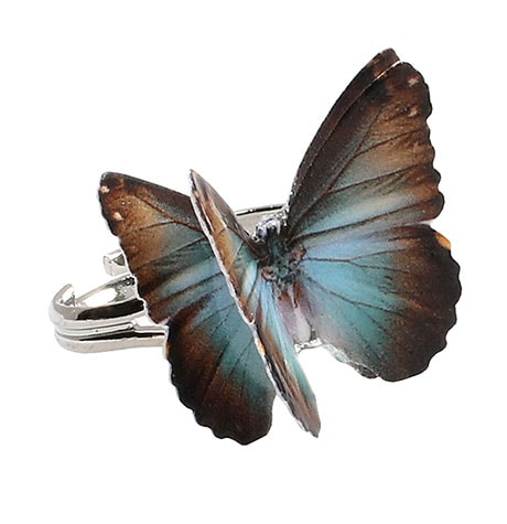 Butterfly Ring- Monarch - Aqua