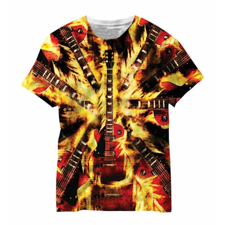 Blazin' Guitar Sublimated Tee