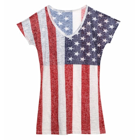 USA Ladies Burnout Tee