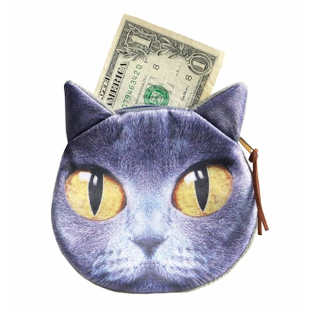 Cat Coin Purse - Gray