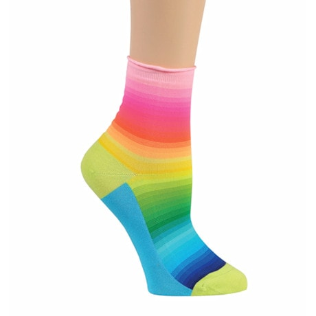 Ombre Color Spectrum Crew Socks