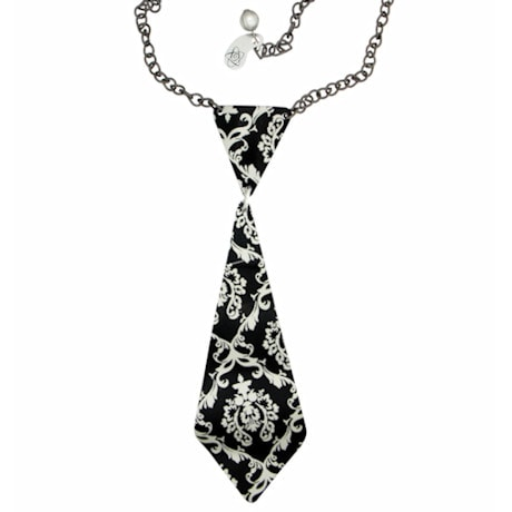 Aluminum Tie Necklace
