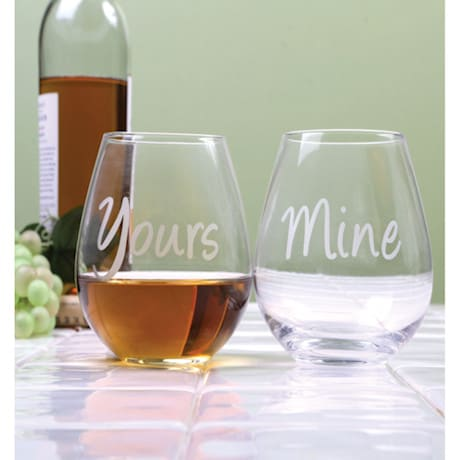Yours & Mine Stemless Goblets