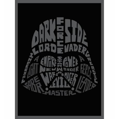 Star Wars™ Typography Canvas Print - Darth Vader