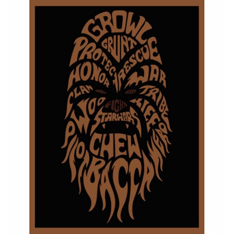 Star Wars™ Typography Canvas Print - Chewbacca
