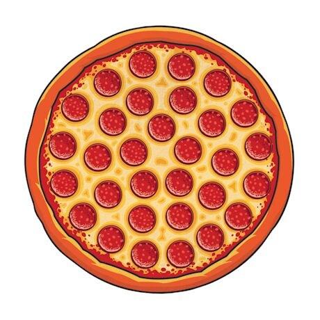 Round Beach Towel - Pizza