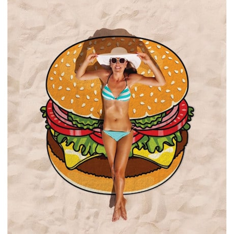 Round Beach Towel - Hamburger