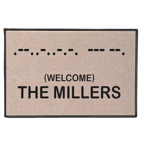 Personalized Morse Code Doormat