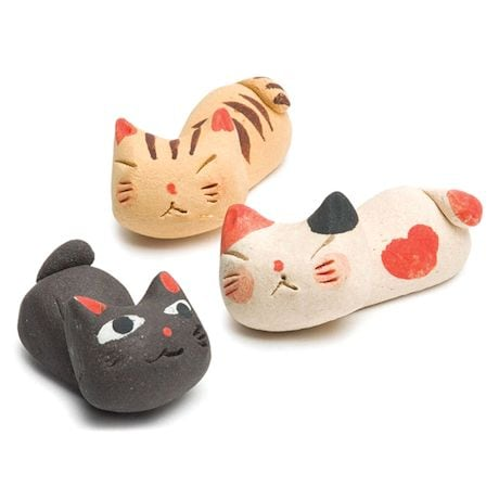 Sleeping Kitty Knife Rests Set Of 3