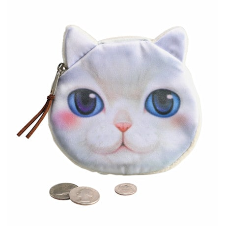 Cat Coin Purse - White