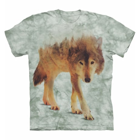 Forest Animal Tee - Wolf