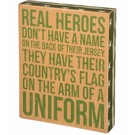 Real Heroes Box Wall Plaque