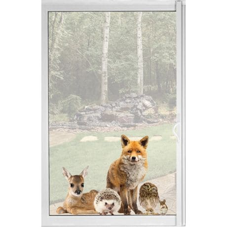 Woodland Animals Window Cling - Fox & Friends