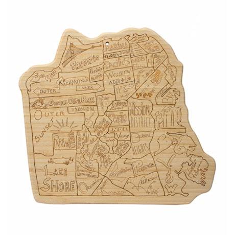 City Life Cutting Board - San Francisco