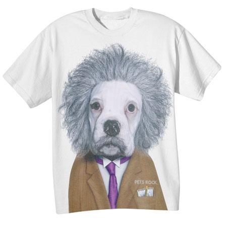 Pets Rock Brainiac E=MC Dog  T-Shirt