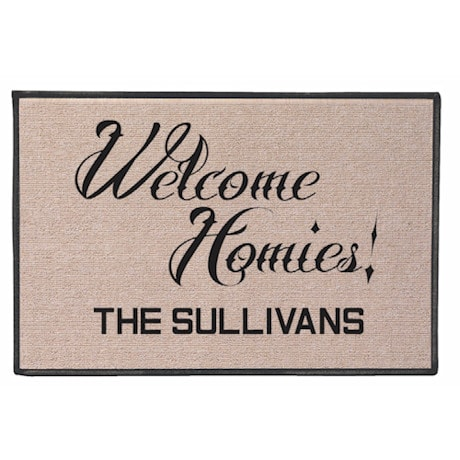 Personalized Welcome Homies Doormat