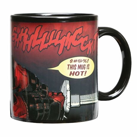 Exclusive Deadpool Warped Skin Magic Heat-Changing Mug 12 Oz Ceramic