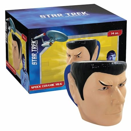 Star Trek 50Th Anniversary Spock Figural Shaped Ceramic 14 Oz Mug