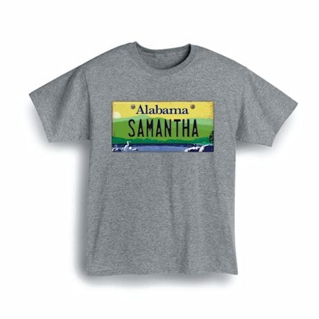 Personalized State License Plate Shirts - Alabama