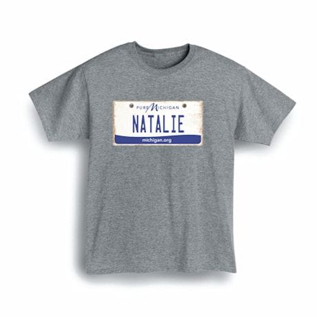 Personalized State License Plate Shirts - Michigan