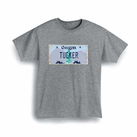 Personalized State License Plate Shirts - Oregon