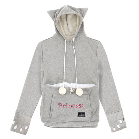 Personalized Pet Holder Hoodie - Sport Gray
