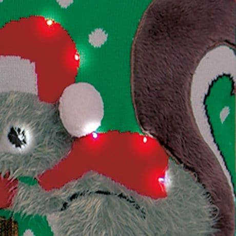Christmas Squirrel Light-Up Sweater