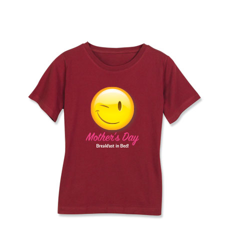 Personalized Winking Smiley Face Emoji T-Shirt