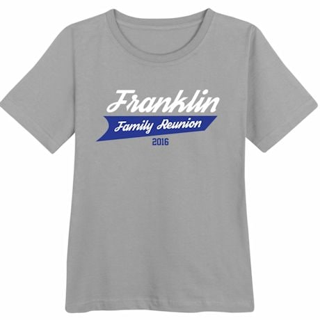 Personalized Your Name Athletic Logo Family Reunion Shirt