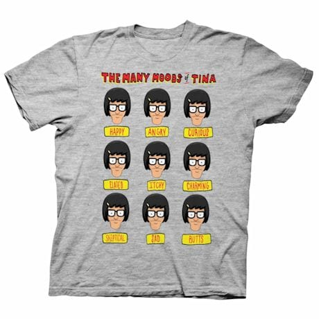 Many Moods Of Tina Shirts