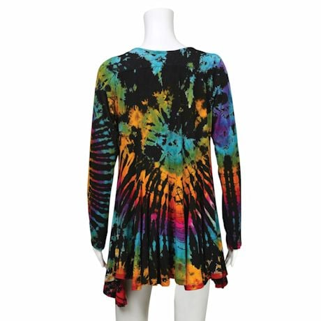 Tie-Dye Apparel- Open Front Cardigan