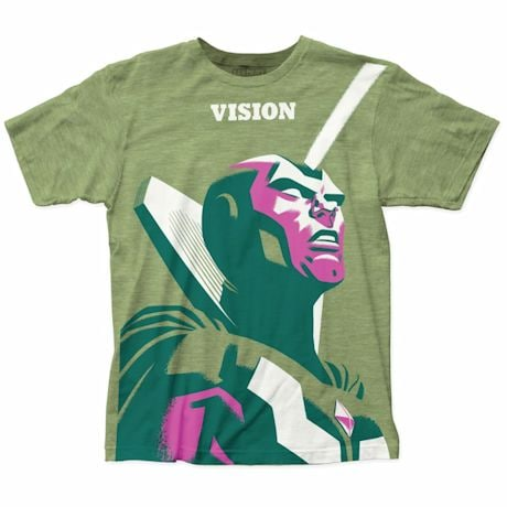 Marvel Art Deco Vision T-Shirt