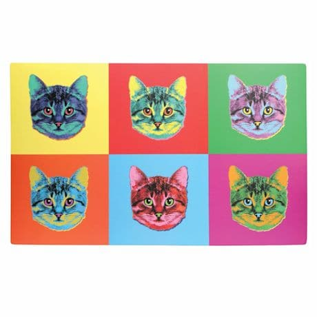 Pop Art Cat Mat
