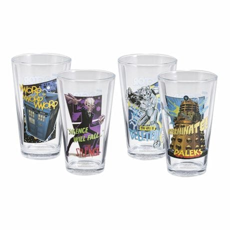 Doctor Who Pint Glasses Set Of 4