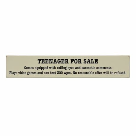 Teenager For Sale Plaque