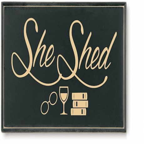 She Shed Plaque