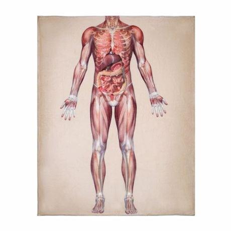 Anatomy Fleece Throw