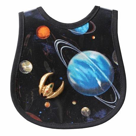 Laminated Baby Bibs- Galactic