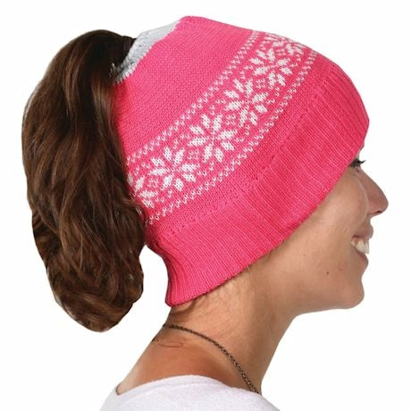 Ponytail Hat- Pink