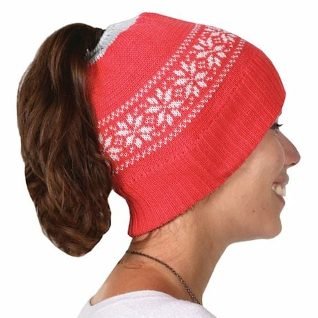 Ponytail Hat - Red