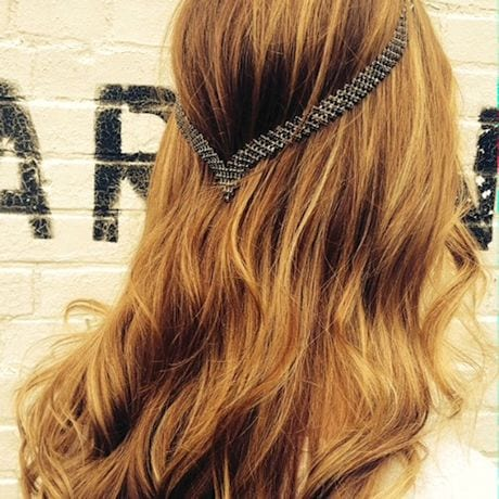 Clip-In Hair Jewelry- Black Crystals