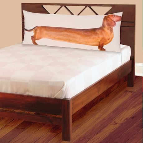Red Dachshund Full-Length Photo Real Body Pillow Case 54""