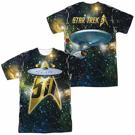 Star Trek 50Th Ship Sublimated Tee