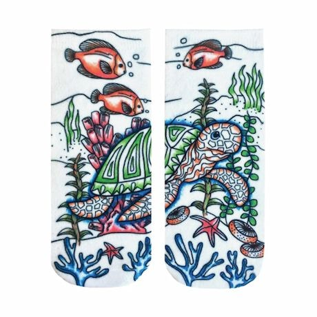 Color Yourself No-Show Socks - Underwater