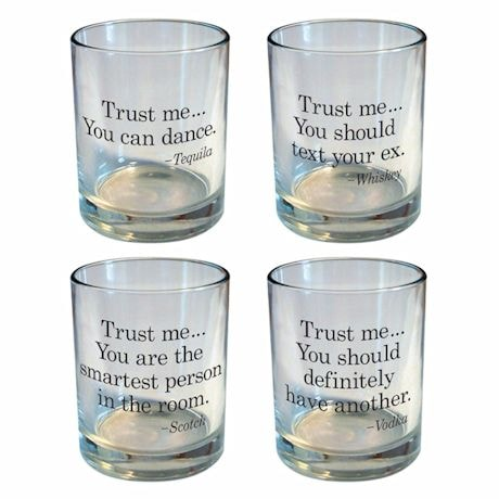 Trust Me Rocks Glass Set