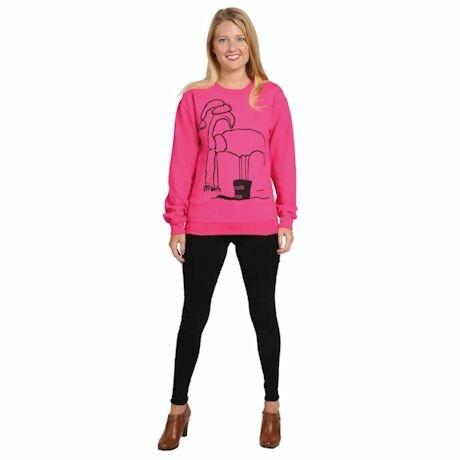 Frosty Flamingo Crew Sweatshirt