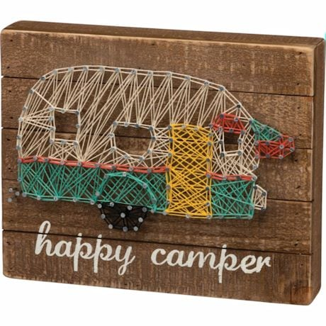 Happy Camper String Art Wall Plaque
